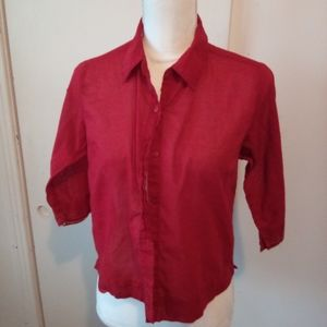 Relativity petite red blouse size PM